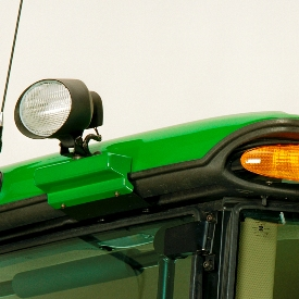 Side roof-mounted floodlights
