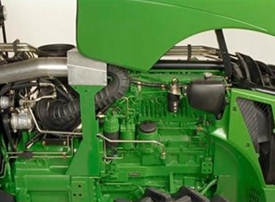 Right-hand side of engine contains fuel system