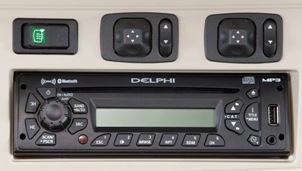 Premium CD player shown