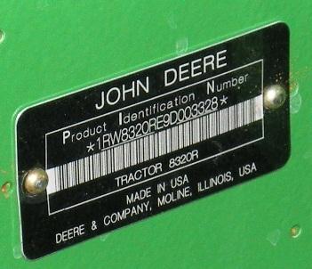 John deere vin number decoder uk