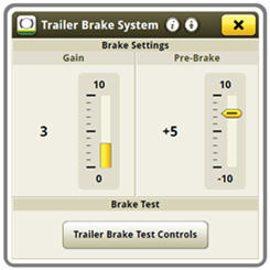 Adjusting gain and pre-brake settings