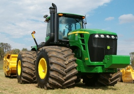 9030 Series Scraper Tractor with flotation tires
