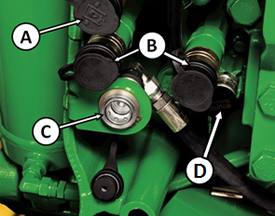 Auxiliary hydraulic couplers