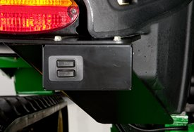 3-Point hitch switch shown on the fender of 9RT