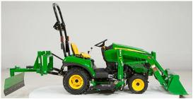 Implement compounding (1025R Tractor shown)