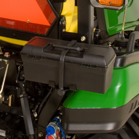 Toolbox shown on 1026R Tractor
