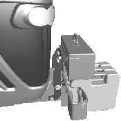 Toolbox at raised position