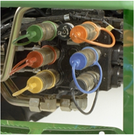 Six mid selective control valve (SCV) kit shown