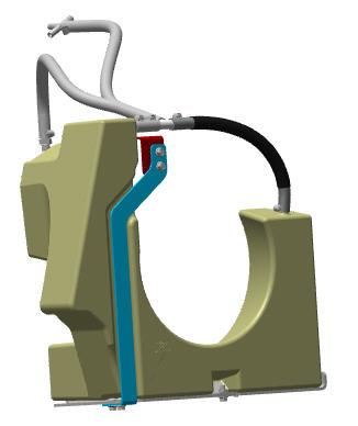 Hydraulic oil auxiliary reservoir kit
