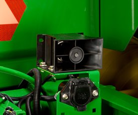Backup alarm on an 8R Series Tractor