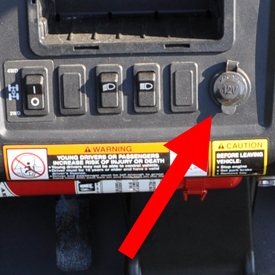 12-V outlet (dash location)