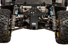 Fox 2.0 Performance Series shocks (rear view)