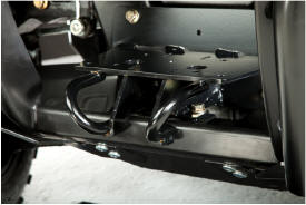 Receiver hitch and recovery loops shown installed