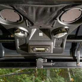 OPS stereo mounting kit shown with head unit