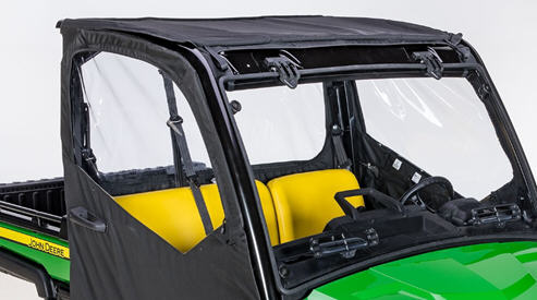Canvas roof and rear panel shown with canvas cab doors (sold separately)
