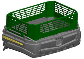 Cargo box side extension kit (required, sold separately)
