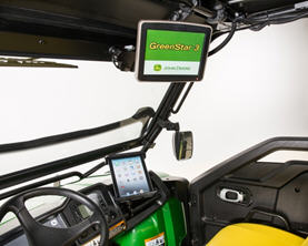 GreenStar installed with tablet mount (sold separately)