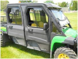 Poly cab doors (shown with rear panel, poly roof, and glass windshield)