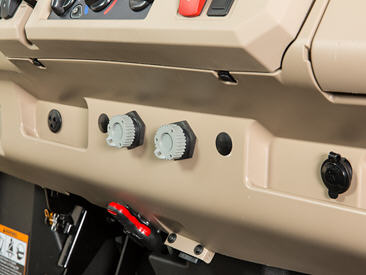 Dash port harness – lower connectors