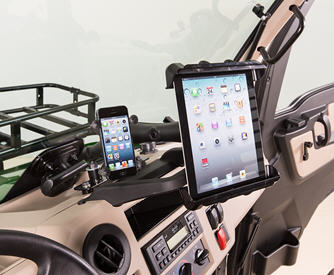 Tablet mount – upper mount location  (shown with cell phone mount – sold separately)