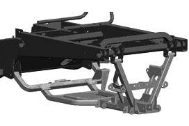 Drivetrain carrier (highlighted in gray)