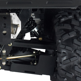 XUV rear suspension detail