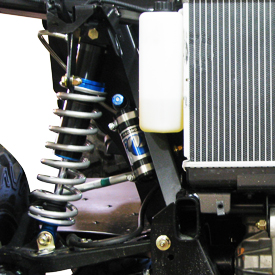 View of front Fox Shocks