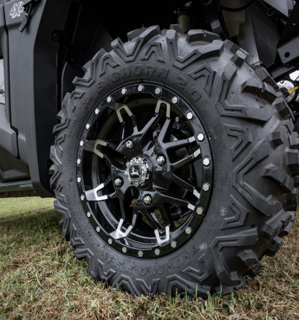 Maxxis Bighorn tires on black aluminum alloys