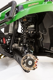XUV front suspension detail