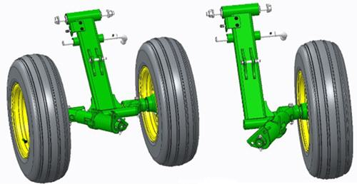 Dual-wheel arm and single-wheel arm assembly