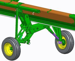Slow-speed transport- rear wheels