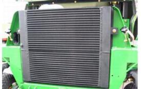 Achteraan gemonteerde radiateur