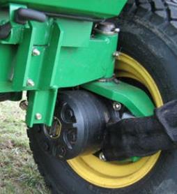 Onafhankelijke hydraulische motors op elk wiel