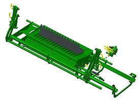 Dankzij een hydraulische klep kan de volledige vloer worden verlaagt – op de MaxiCut HC 15
