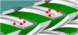 Graafbalken om de contactpunten te verhogen