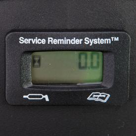 Urenmeter met service-indicatie