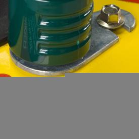 Voorbeeld van slangadapter voor gebruik met spoelpoort
