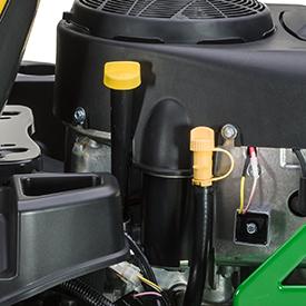 Motorolie controle/vulbuis en buis om olie af te tappen