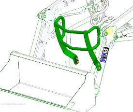 Luxe motorkapbescherming afgebeeld op H120 voorlader