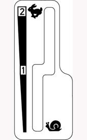 Rijsnelheidshendel met rijrichtingshendel links