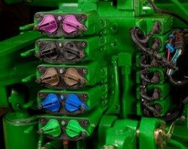 Vijf hydrauliekventielen met afstandsbediening