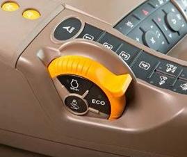 Eco-knop op het handgas