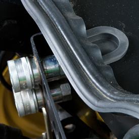 Verwijderbare plug voor de achterruit geïnstalleerd
