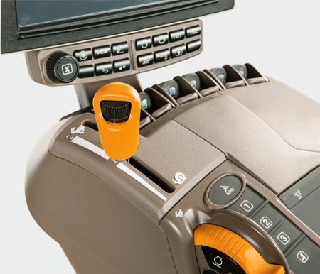 Eco speed van AutoPowr met 40 km/u (25 mph) bij 1.360 t/min om brandstof te besparen