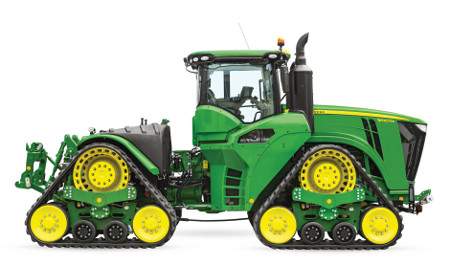 Tractoren met 4 rupsbanden uit de 9RX-serie bieden uitstekende prestaties in alle omstandigheden