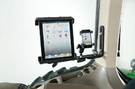 Montagebeugel met bevestiging voor mobiele telefoon en tablet