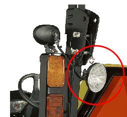 Werklamp achter