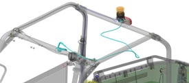 Kabelboomset voor zwaailicht (afgebeeld op Gator™ XUV560)