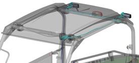 Kabelboomset voor montage lamp op achterkant OPS/dak