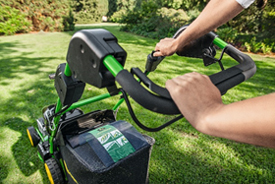 Handlebar allows the operator to rest hands comfortably during operation. All main elements are within reach.